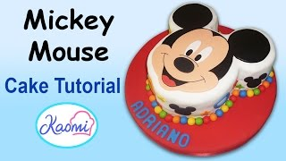 How to make a Mickey Mouse Cake / Cómo hacer una torta de Mickey