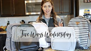 Five Ways Wednesday | Packing Five MINI Diaper Bag Backpacks | The Sensible Mama
