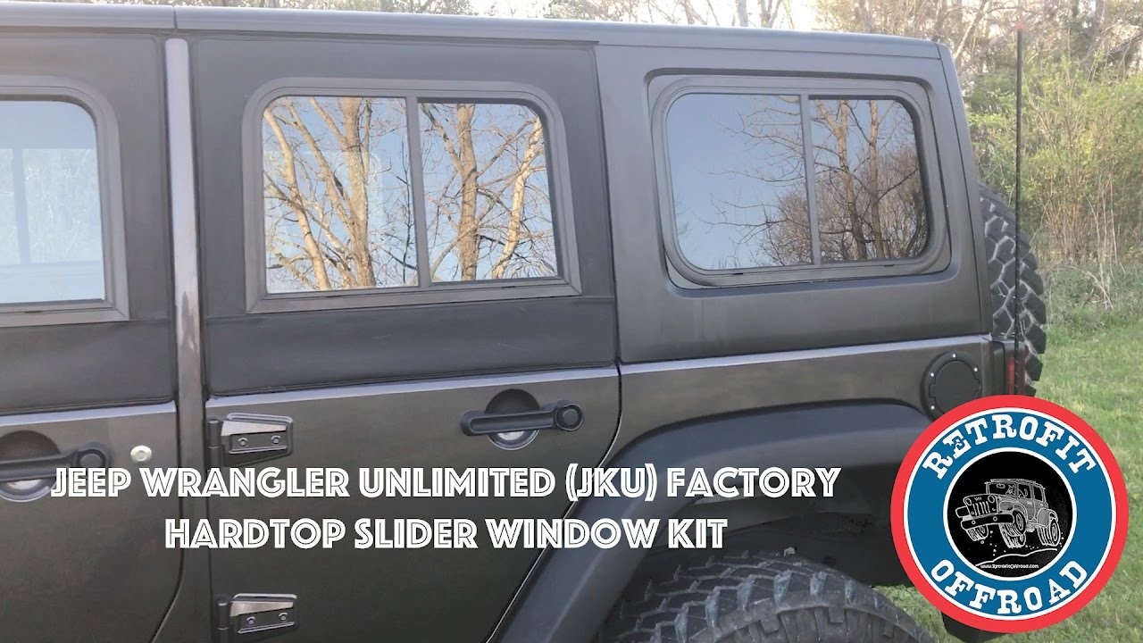 Factory Hardtop Slider Window Kit Jeep Wrangler