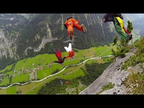 Buzzing Paragliders, 6-Man BASE Jumps and Waterfall Fly-Thru   GroWings, Ep. 4