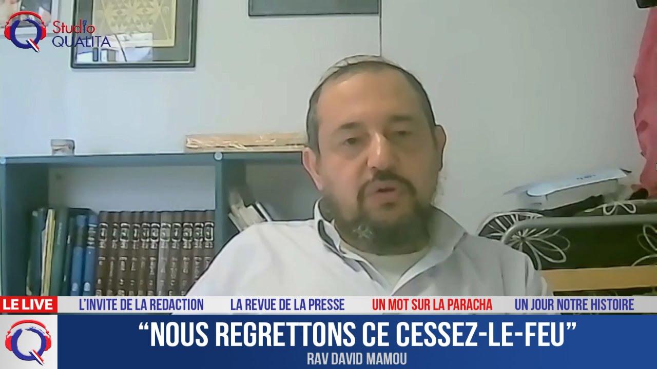 """""""Nous regrettons ce cessez-le-feu"""" - Le mot de la Paracha du 21 mai 2021"""