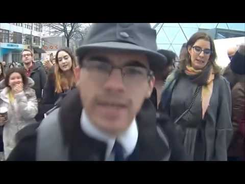 Shia Labeouf yells at Neo Nazi 'He Will Not Divide Us' FULL