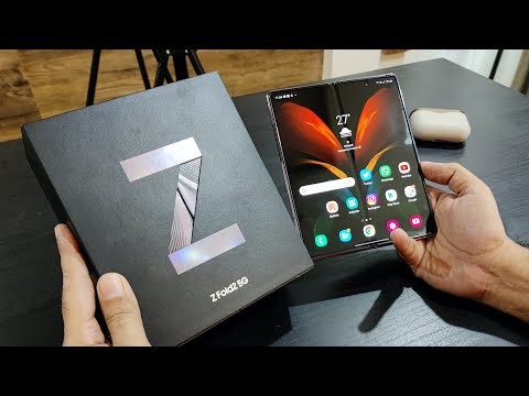 My New Smartphone Samsung Galaxy Fold 2 Unboxing (Retail Unit)