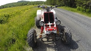 Fast ATV ride with VERY LOUD exhaust - Banshee 350