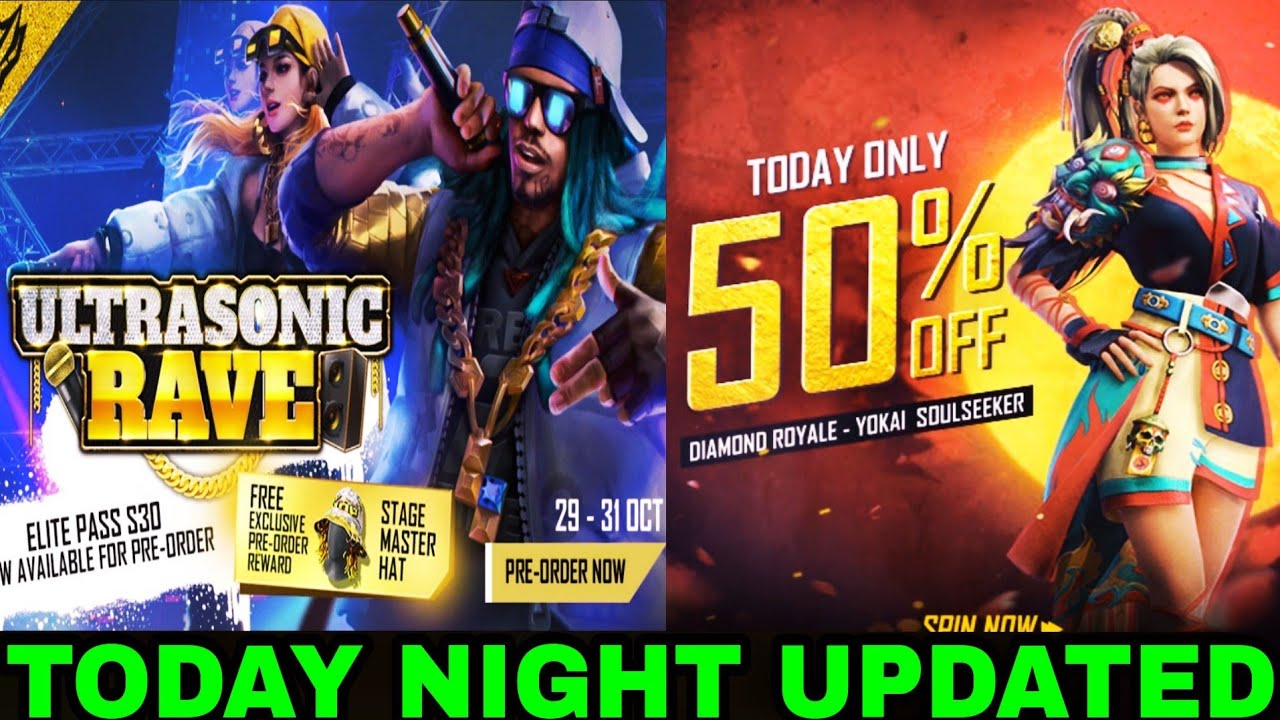 Today Night Updated, Season 30 Elite Pass Pre-order Reward In Free Fire // Store Gaming