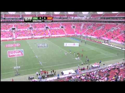 Zimbabwe vs Spain. Final Shield - Port Elizabeth Seven 2012