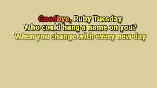 Ruby Tuesday The Rolling Stones best karaoke instrumental lyrics