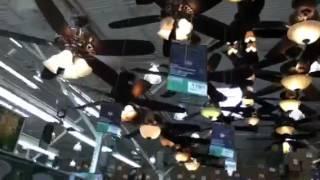Menards ceiling fan display