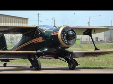 Beechcraft Staggerwing NC265E Start-up & Taxi at KCRG on 4/22/17