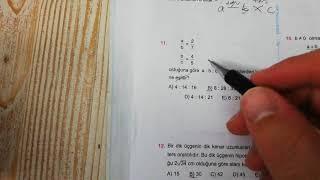 Oran ve Orantı Test 2 Esen TYT Matematik Mavi Seri Açıklamalı Çözümleri
