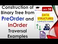 Construction of Binary Tree from PreOrder and InOrder Traversal(Hindi, English) with Example