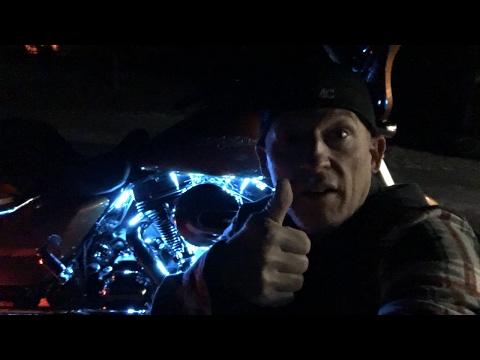 Ciro 3D Shock & Awe LED Lights on Harley-Davidson-Fork Mounted Illuminators