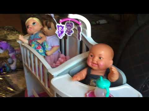dressing my dolls for a party