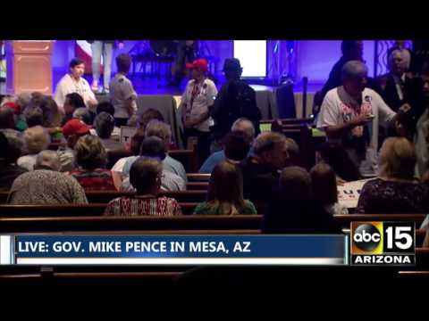 FULL: Gov. Mike Pence campaigns for Donald Trump in Mesa, AZ
