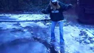 amanda falling on ice