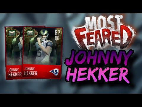 JOHNNY HEKKER GAMEPLAY AND REVIEW!- THE BEST QB IN THE GAME!- Madden Mobile 18 Most Feared