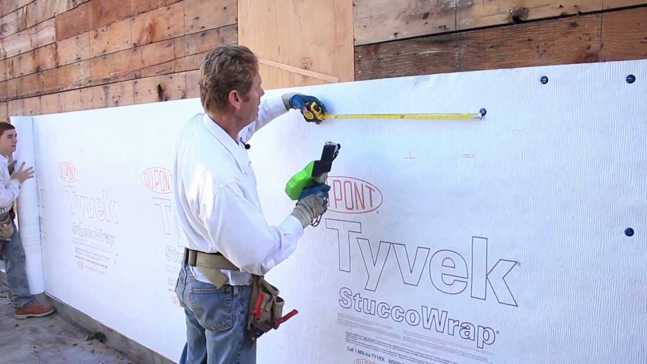 Tyvek Stucco House Wrap Or Plastering Moisture Barrier