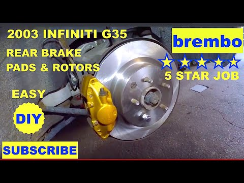 How to replace Rear Brakes & Rotors on Infiniti G35 Brembo Brakes rear