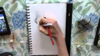 Speed drawing - arabesque