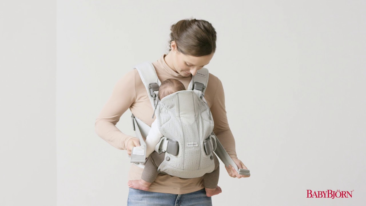 Babybjörn How To Adjust The Shoulder Straps On Baby Carrier One