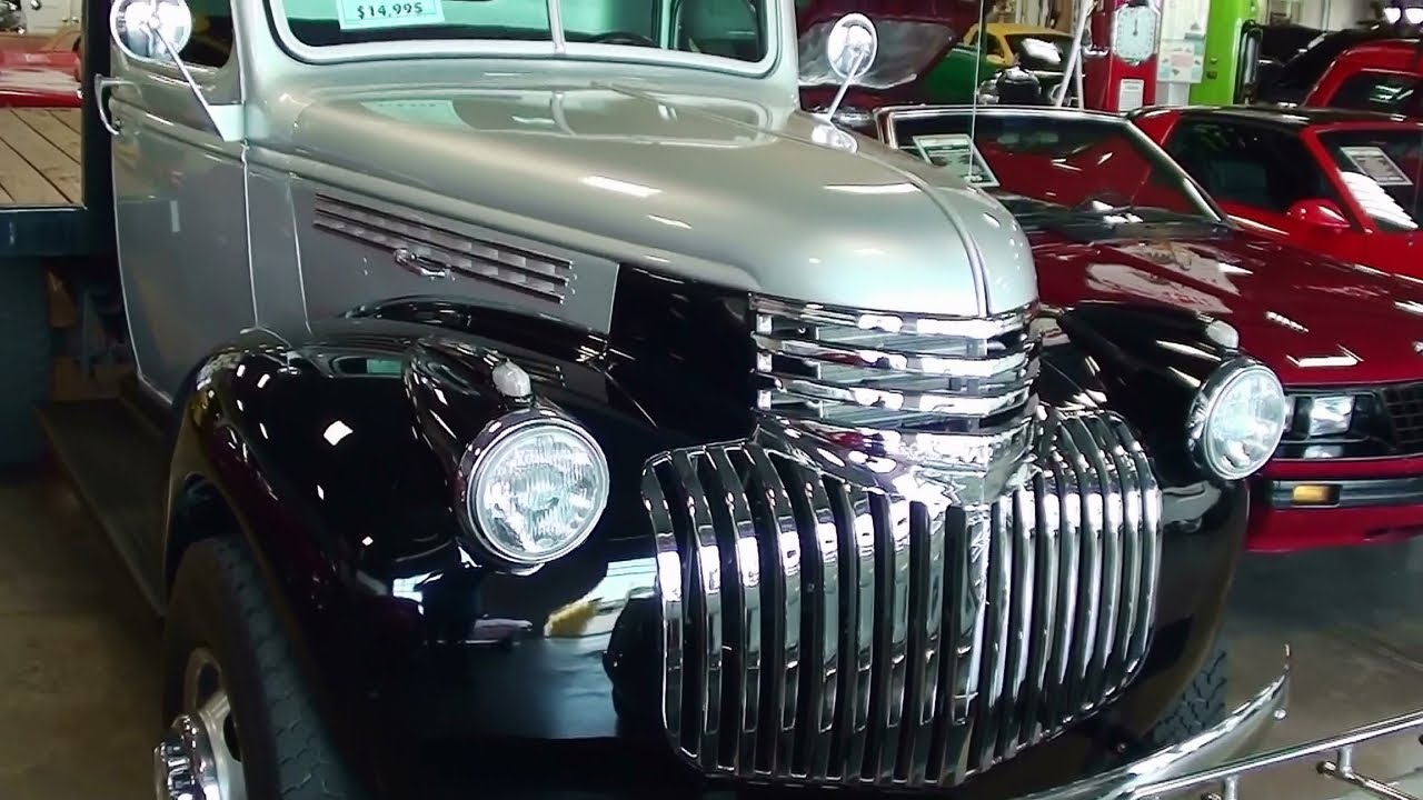 1941 Chevrolet 1 Ton Dually Stake side Truck - YouTube