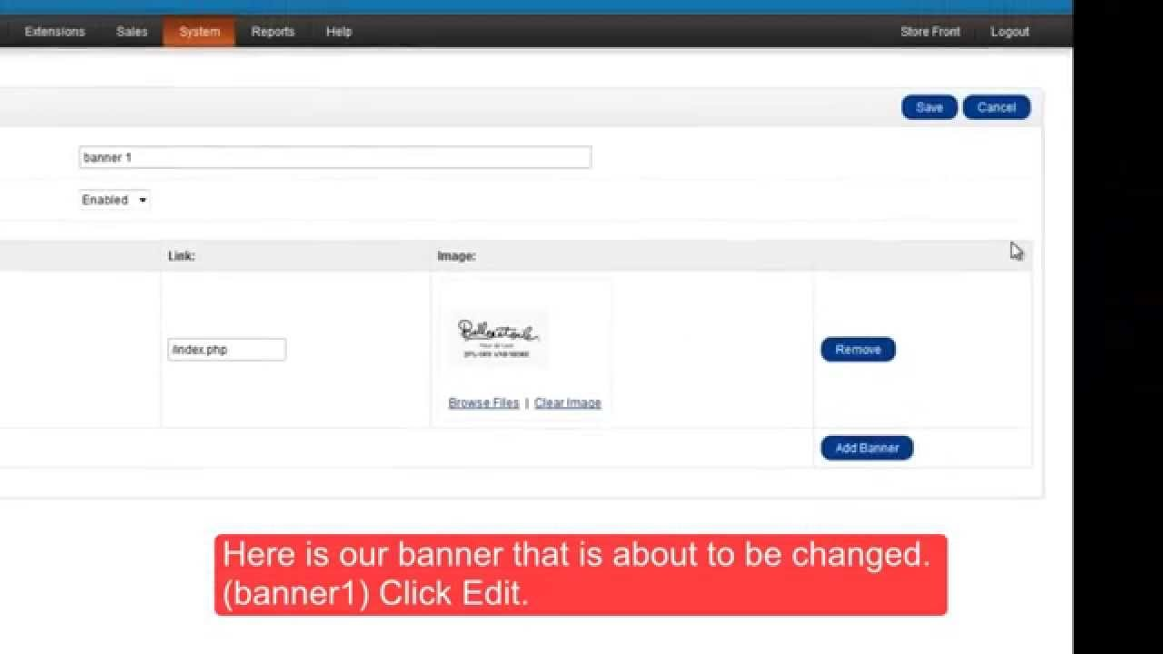 How To Change Banners On Your Opencart Template Youtube