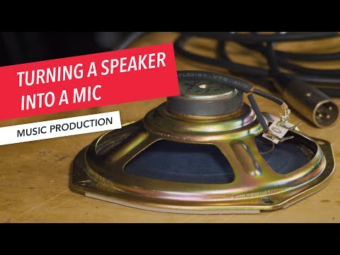How to Convert a Speaker into a Dynamic Microphone | Recording, Engineering, and Music Production