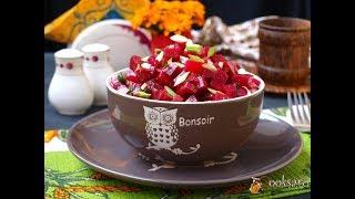 Салат из свеклы с луком и чесноком