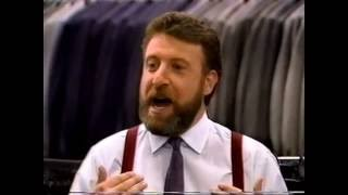 """1988 - Men's Wearhouse """"I Guarantee It"""" George Zimmer Sales Pitch Commercial 80s"""