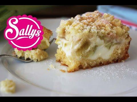 Rhabarberkuchen Mit Vanillecreme Und Streuseln Sehr Einfach Auch