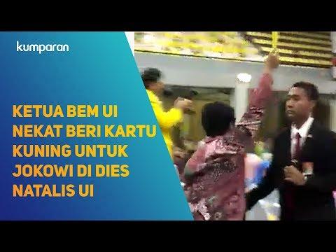 Kartu Kuning Dari Ketua BEM UI untuk Jokowi di Acara Dies Natalis UI