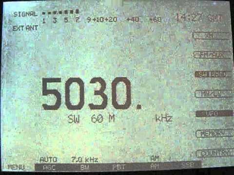 5030 kHz - Radio Bhutan?