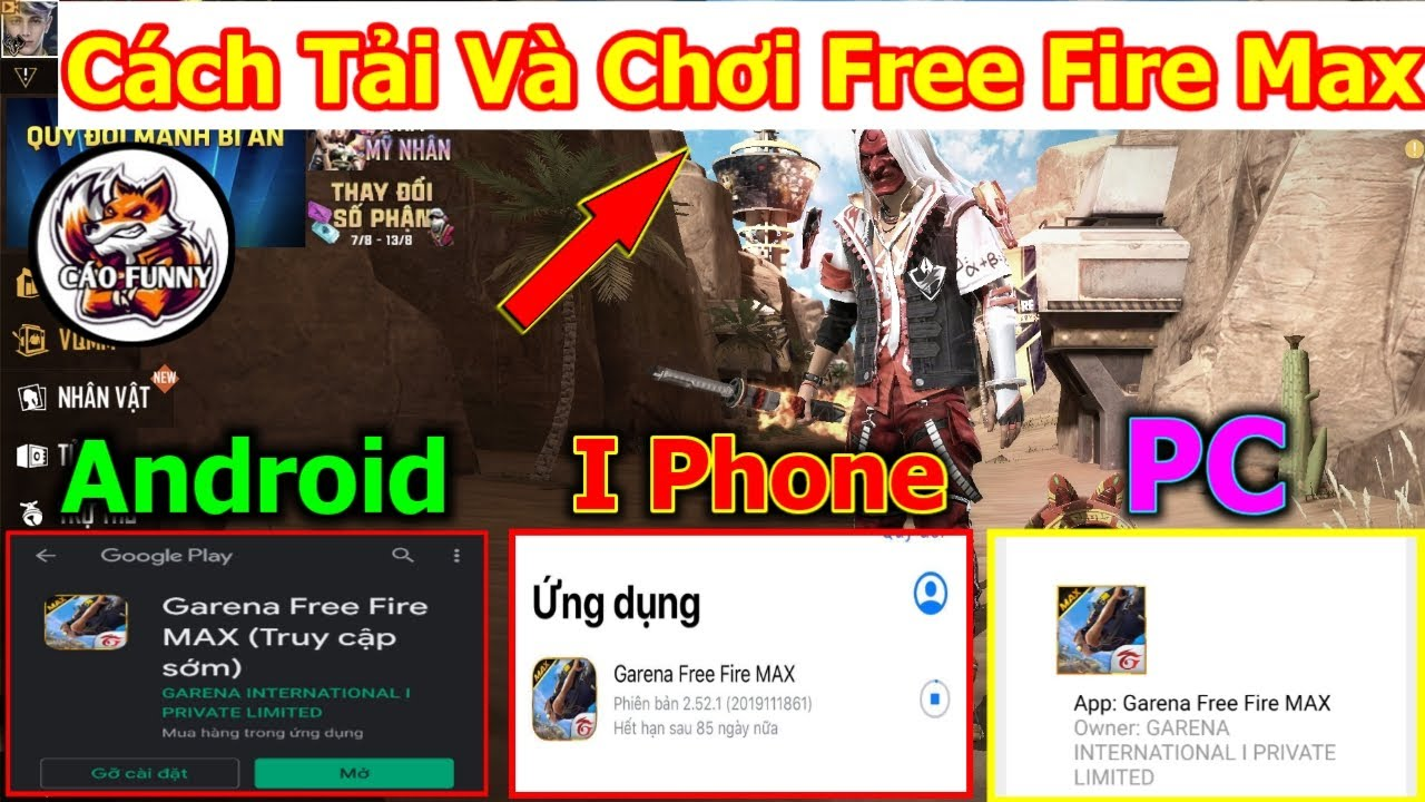 [Free Fire] Hướng Dẫn Cách Tải Và Kích Hoạt Free Fire Max Trên Android, iPhone, Giả Lập Pc
