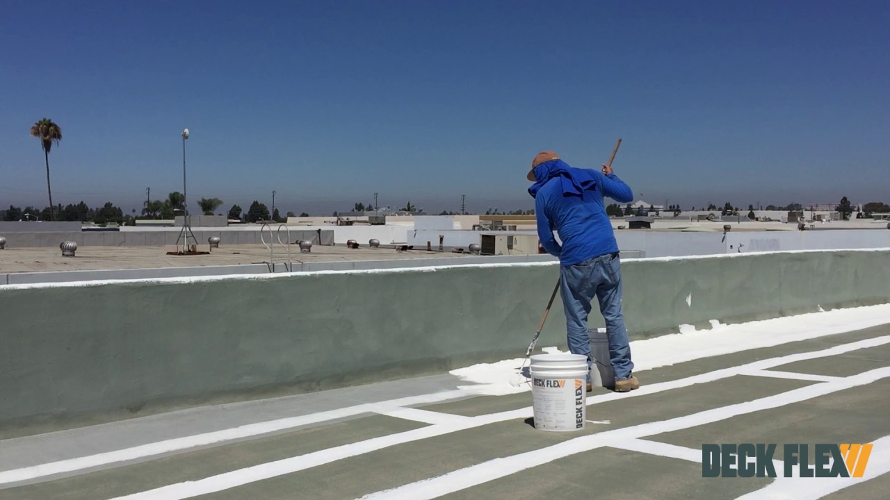 How To Apply Elastomeric Roof Coating Using Deck Flex T2424 Reflective Roof  Coating