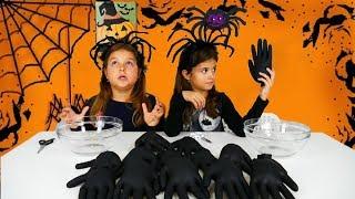 ΜΗΝ ΔΙΑΛΕΞΕΙΣ ΤΟ ΛΑΘΟΣ ΓΑΝΤΙ HALLOWEEN CHALLENGE !!  / don't choose the wrong glove slime challenge