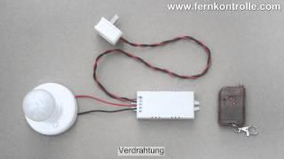 Ein-/Ausschalten einer AC Lampe mit 1CH AC Funkschalter