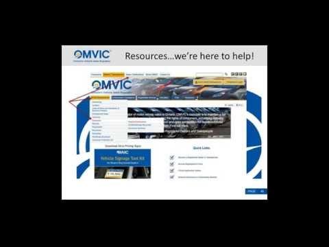 OMVIC Disclosure Webinar