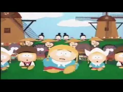 Kyle's mom is a big fat B**** but every time Cartman says B**** it gets slower