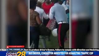 BUS DRIVER, CONDUCTOR ARRESTED FOR ASSAULTING TRAFFIC COP  2 15 2019