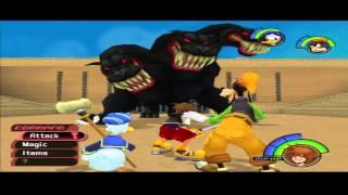 Kingdom Hearts 1 Hercules 3/3 BOSS: Cerberus