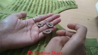Very decent neck design for plain fabric with button