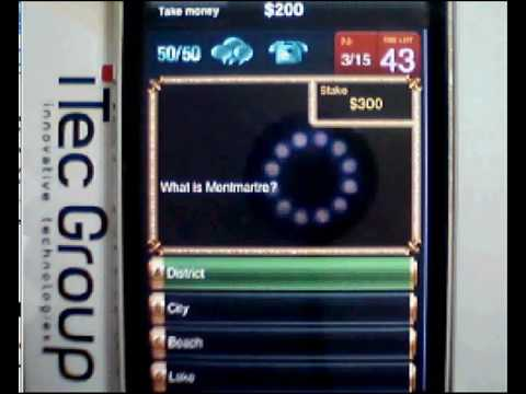 Millionaires Club  Who Wants To be a Millionaire iPhone trivia game! Millionaires Quiz Game!