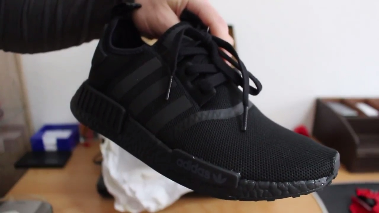 1f2642dab66f Adidas NMD R1 Triple Black Unboxing and Review - YouTube