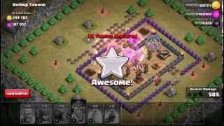 Clash of clans - how to beat rolling terror with lv5 barch