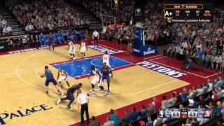 NBA 2K15 PC Gameplay(My career)Charlotte Hornets VS Detroit Pistons