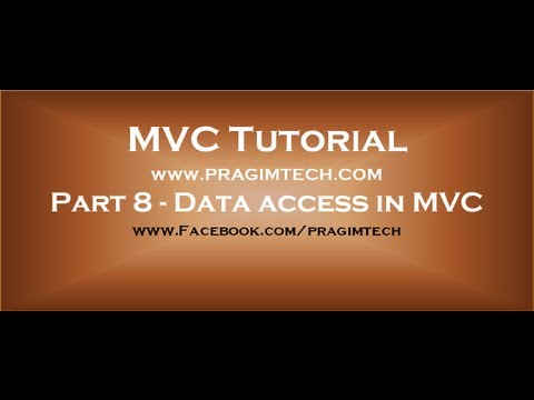 Part 8  Data access in mvc using entity framework