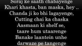 Daak Ticket -  Hawaizaada 2015 Mohit Chauhan - Ayushmann Khurrana Lyrics HD