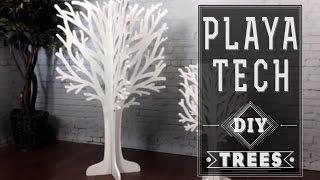 Flat Pack Playatech Art - Making A Tree Out Of Scrape Foam Core Material