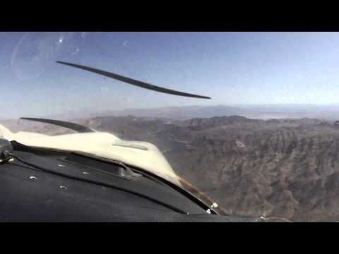 Flying over Hoover Dam and Lake Mead