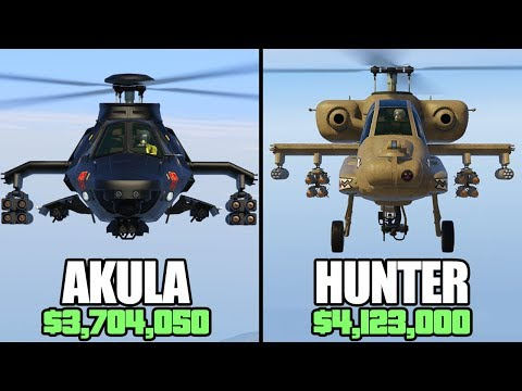 GTA 5 Online - Akula Vs Hunter ($3,704,050 Vs $4,123,000)
